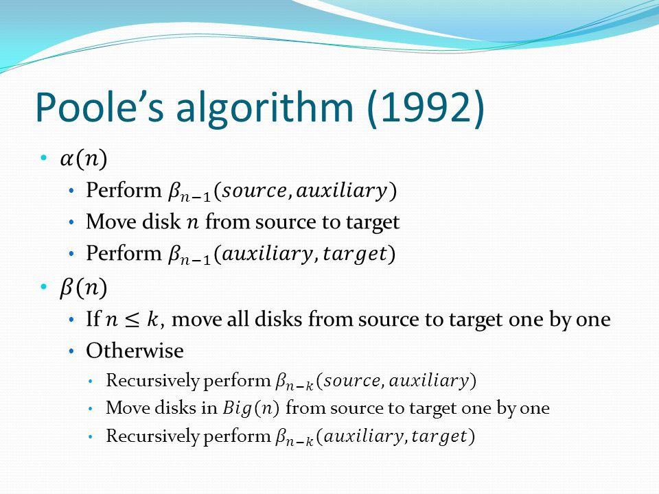 Poole's algorithm (1992)