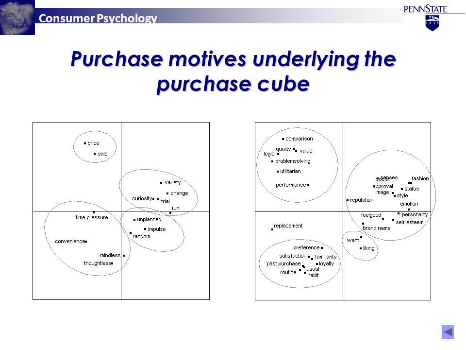 Consumer Psychology Purchase motives underlying the purchase cube