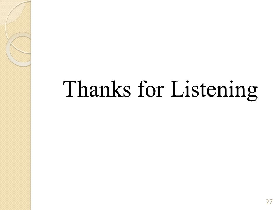 Thanks for Listening 27