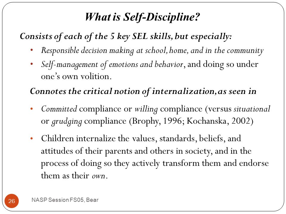 Alternative vision of positive school climate – one that values safety and compliance, where appropriate, but emphasizes relationships and the long-term goal of developing self- discipline.