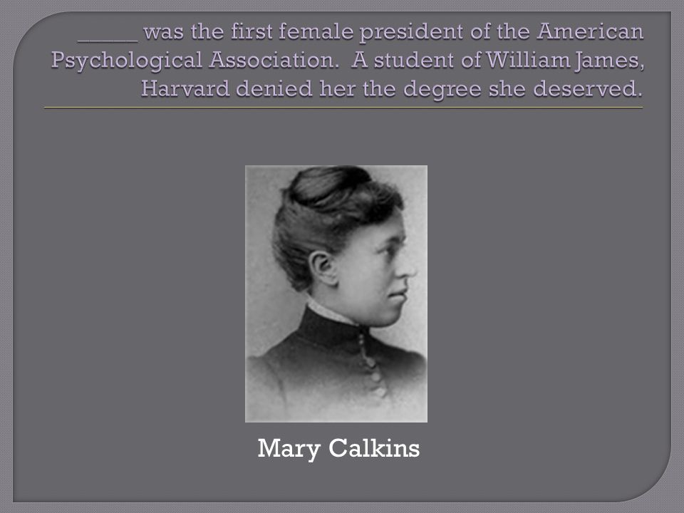 Mary Calkins