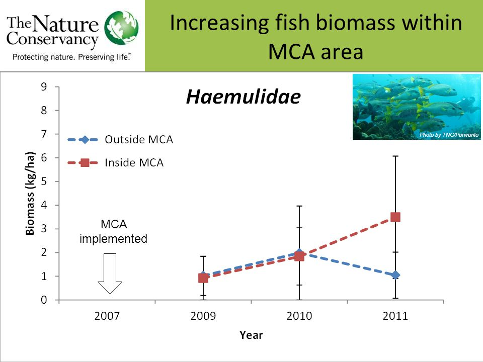 Photo by TNC/Purwanto MCA implemented Increasing fish biomass within MCA area
