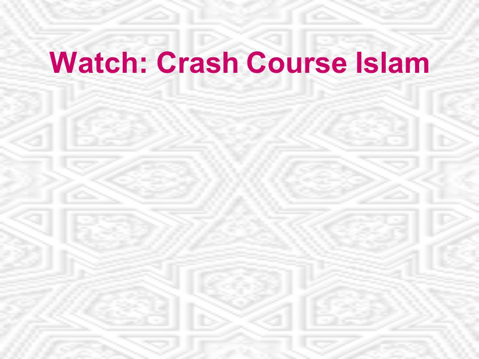 Watch: Crash Course Islam