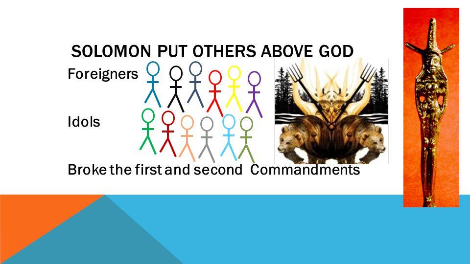 ISRAEL TO BE TORN IN TWO God spoke to Solomon Jeroboam (Work Force Leader) Prophet