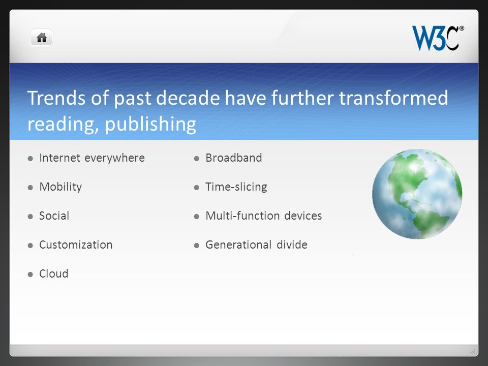 How Can W3C Bring Publishing and Web Industry Closer.