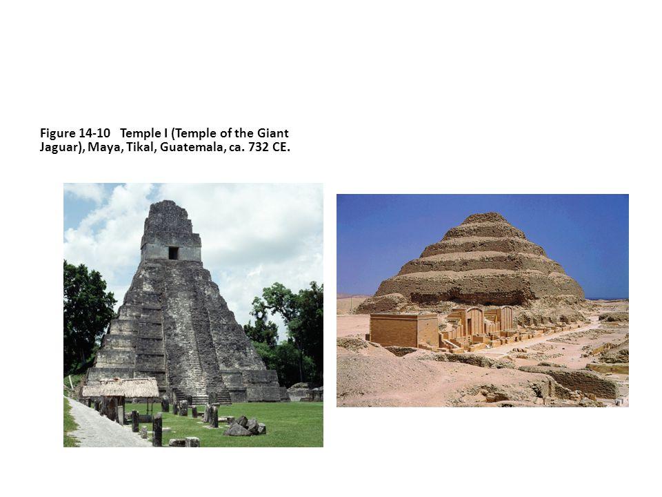 Figure 14-10 Temple I (Temple of the Giant Jaguar), Maya, Tikal, Guatemala, ca. 732 CE.