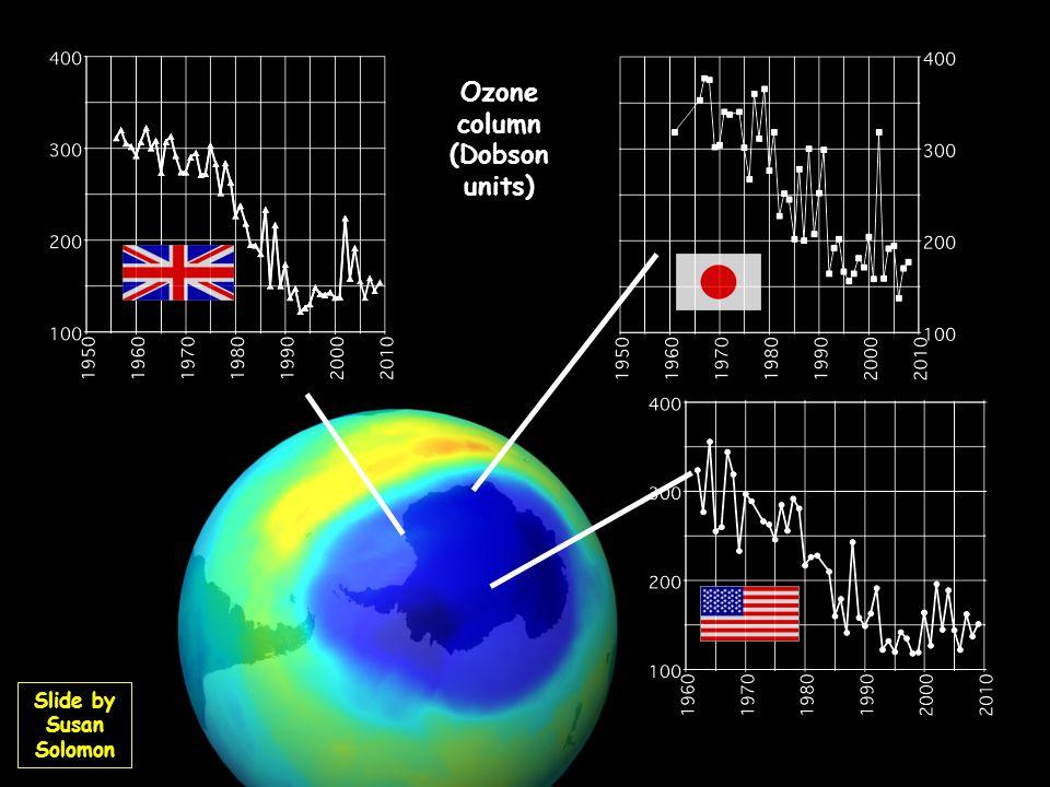 Ozone column (Dobson units) Slide by Susan Solomon