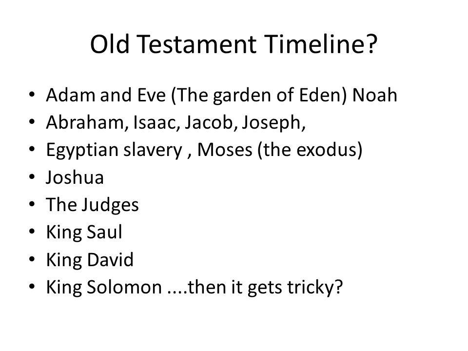 Old Testament Timeline.