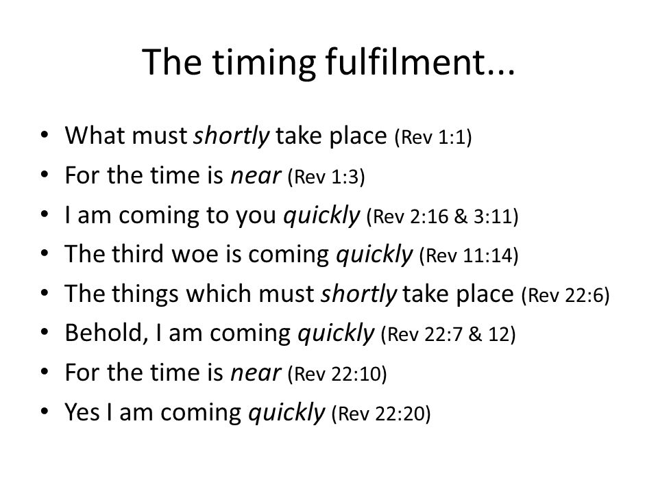 The timing fulfilment...