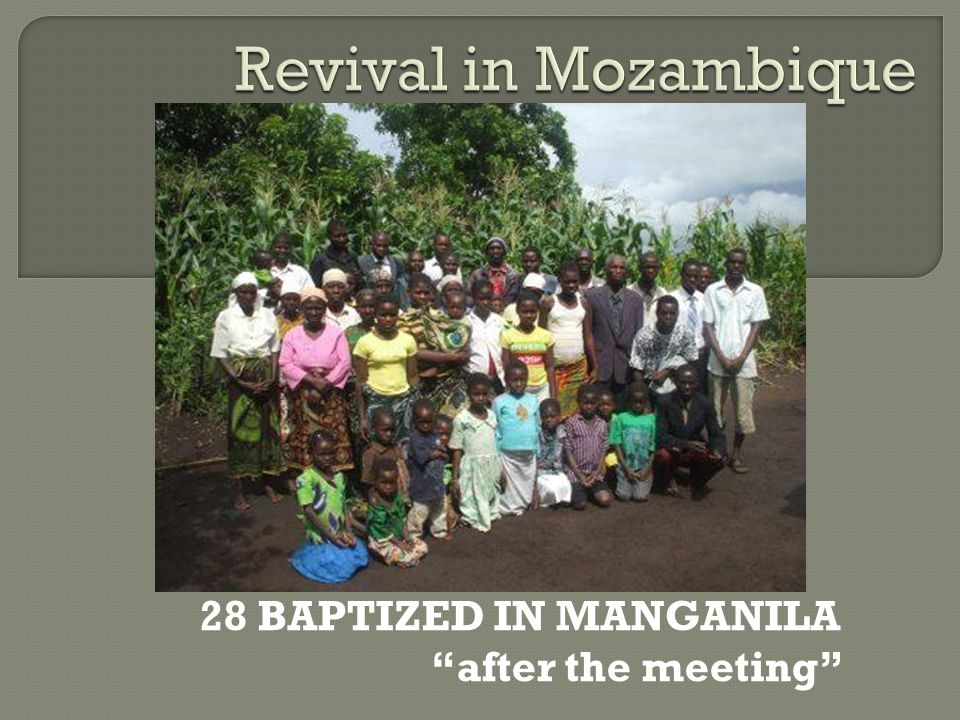 28 BAPTIZED IN MANGANILA after the meeting