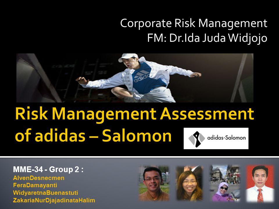 MME-34 - Group 2 : AlvenDesnecmen FeraDamayanti WidyaretnaBuenastuti ZakariaNurDjajadinataHalim Corporate Risk Management FM: Dr.Ida Juda Widjojo