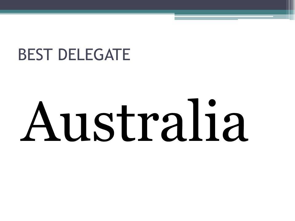 BEST DELEGATE Australia