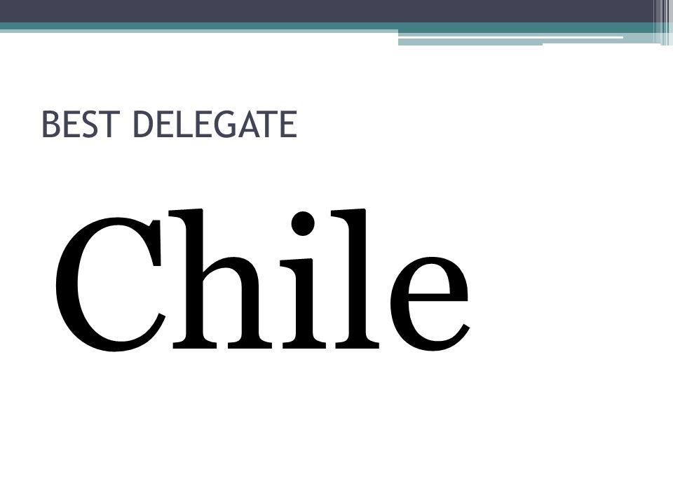 BEST DELEGATE Chile