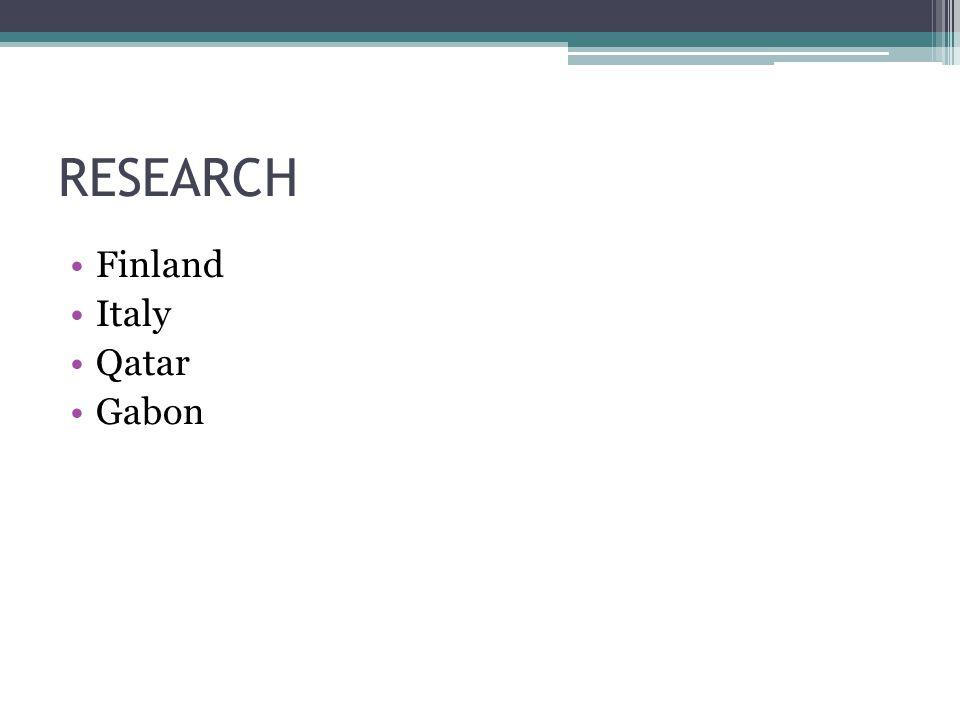 RESEARCH Finland Italy Qatar Gabon