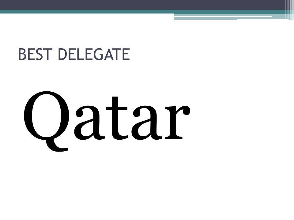 BEST DELEGATE Qatar