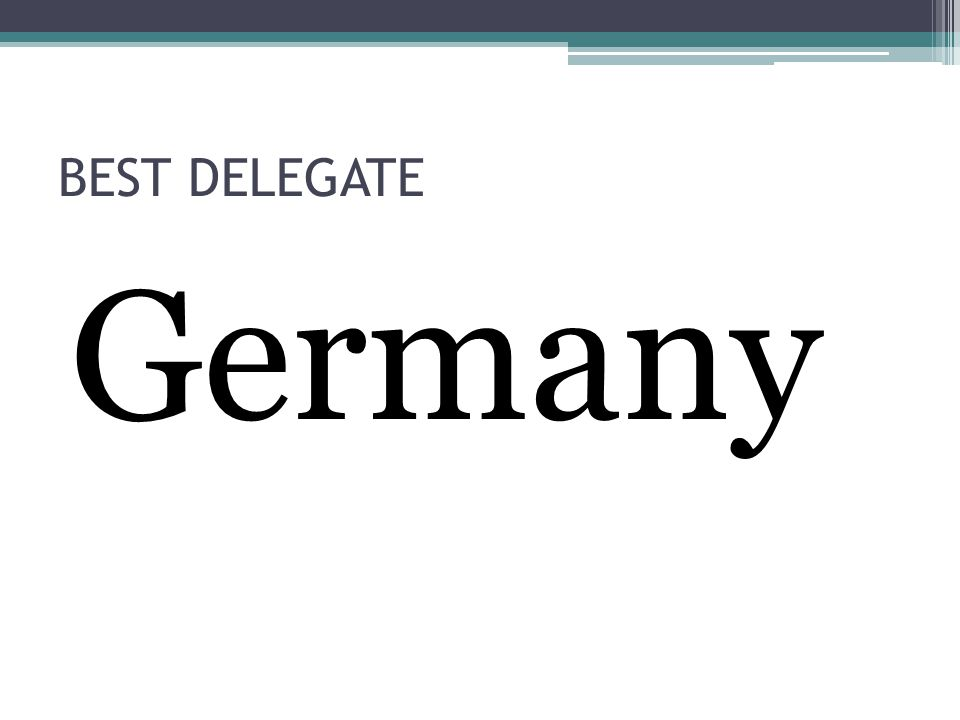 BEST DELEGATE Germany