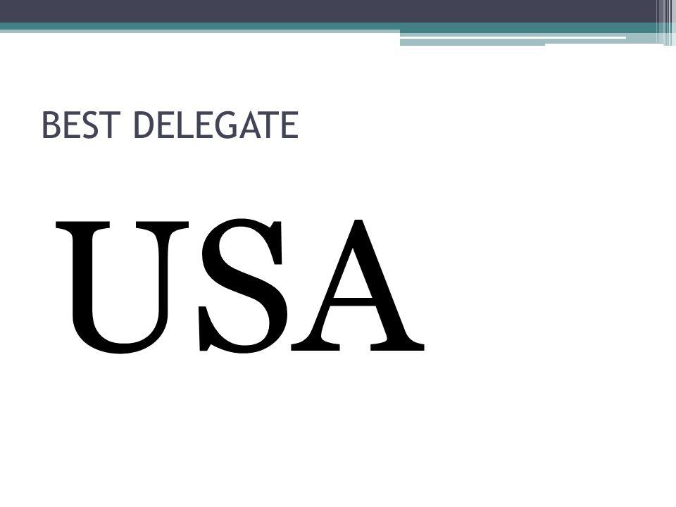 BEST DELEGATE USA