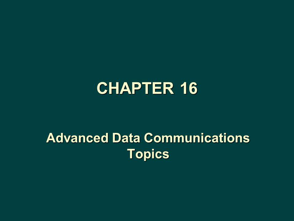 Advanced Data Communications Topics CHAPTER 16