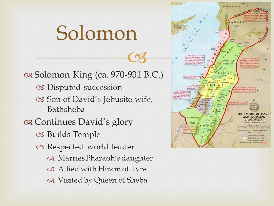   Solomon King (ca.