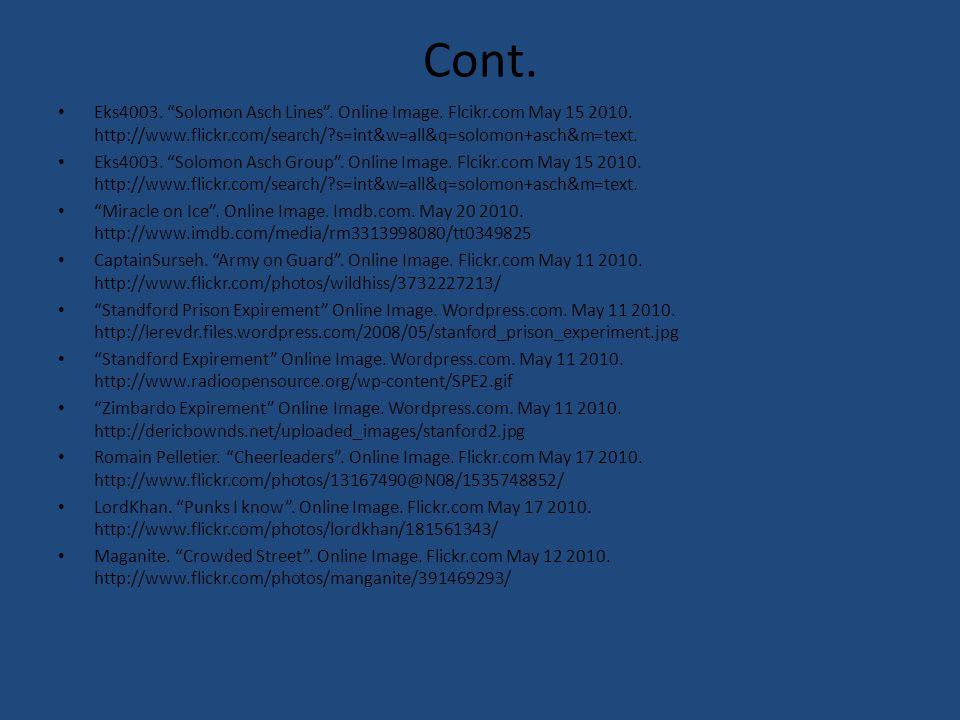 Cont. Eks4003. Solomon Asch Lines . Online Image.