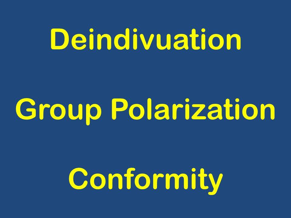 Deindivuation Group Polarization Conformity