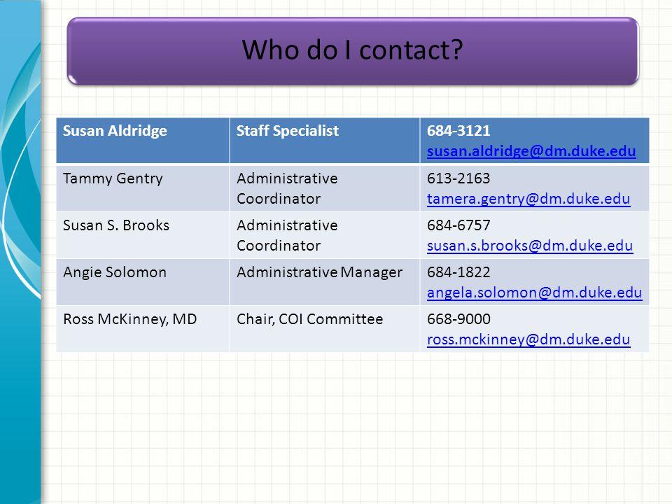 Who do I contact.