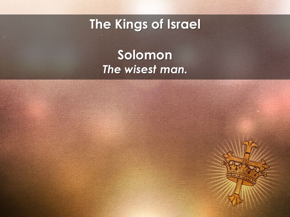 Solomon The wisest man.