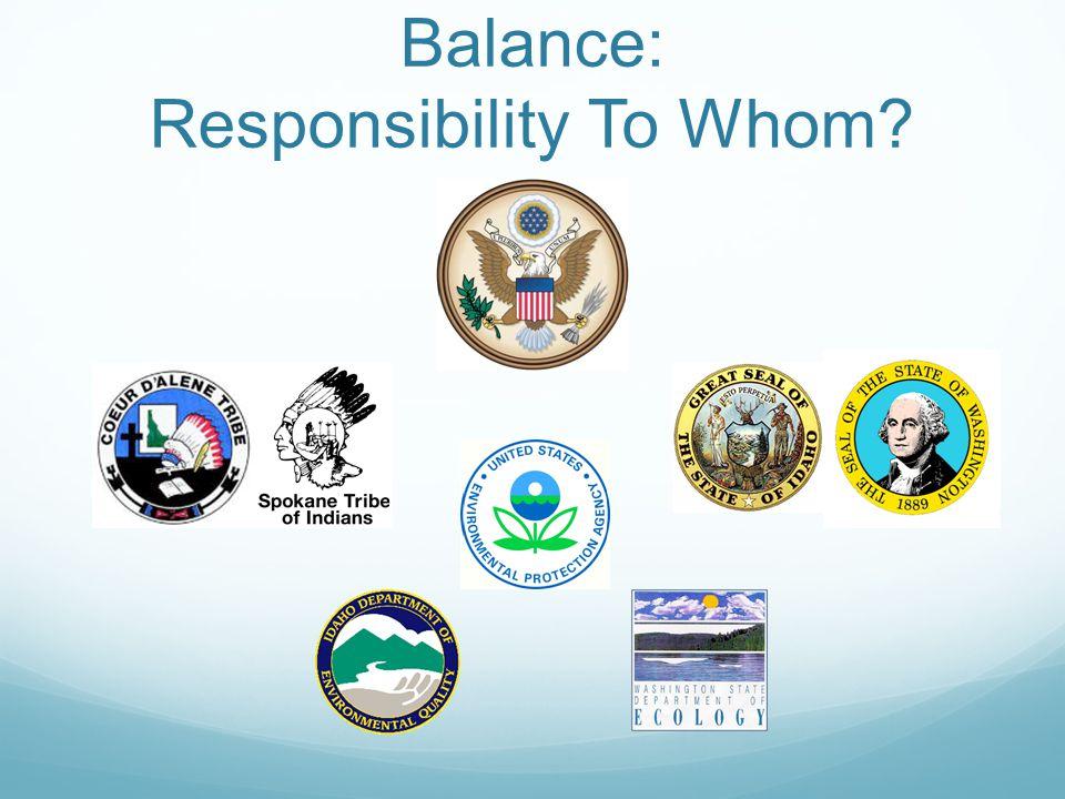 Balance: Responsibility To Whom