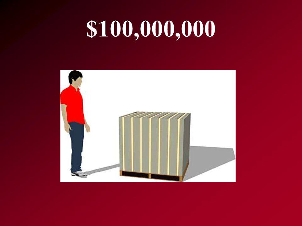 $100,000,000