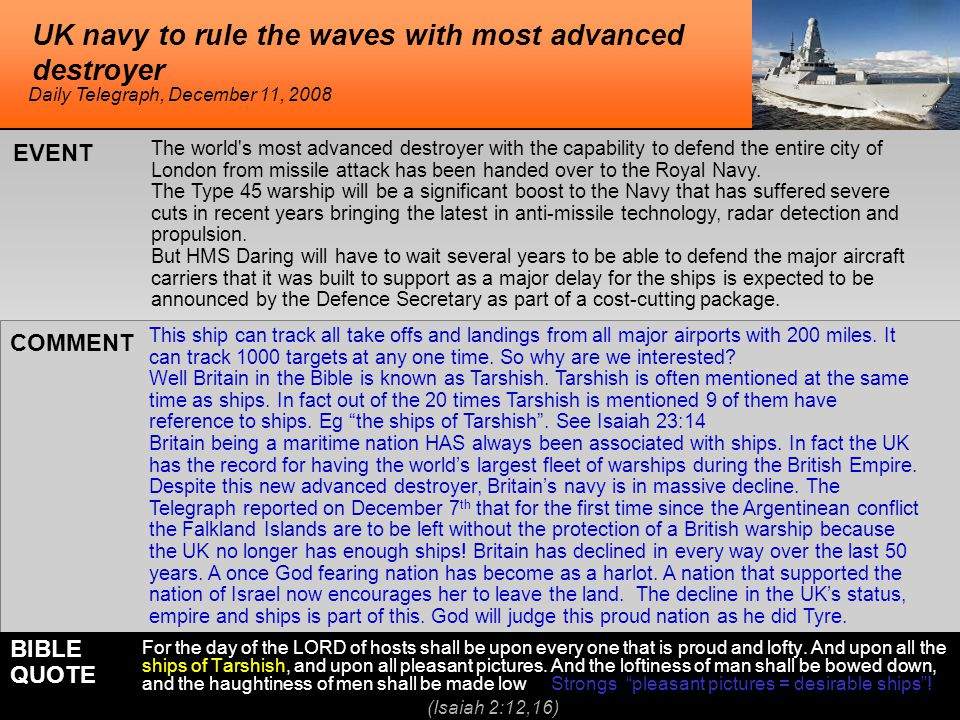 UK navy to rule the waves with most advanced destroyer This ship can track all take offs and landings from all major airports with 200 miles.