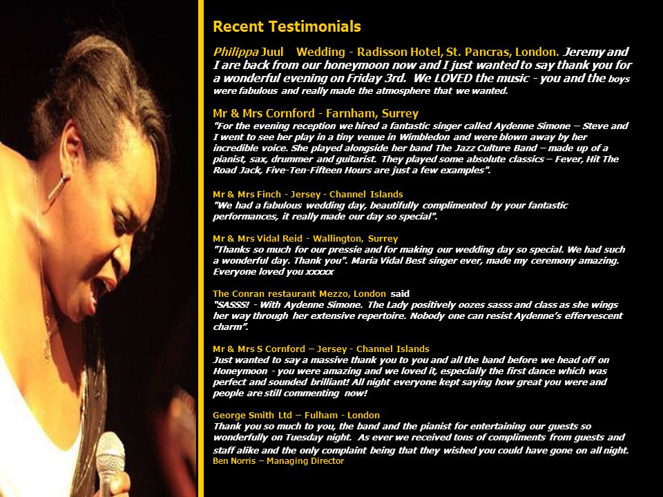 Roger Limb - Pianist, Musical Director and Producer (Producer of the 'Black Coffee album) is a man of many talents.