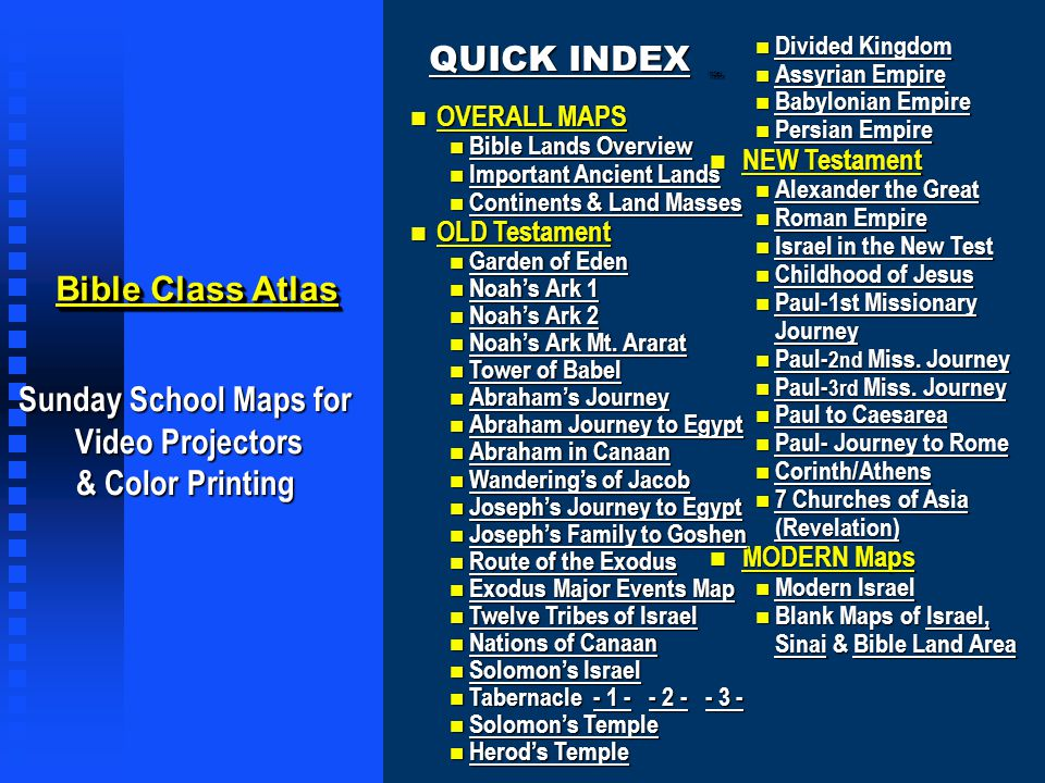 Program Tips n INTERACTIVE MAPS: When run in the presentation mode, this map set is interactive.