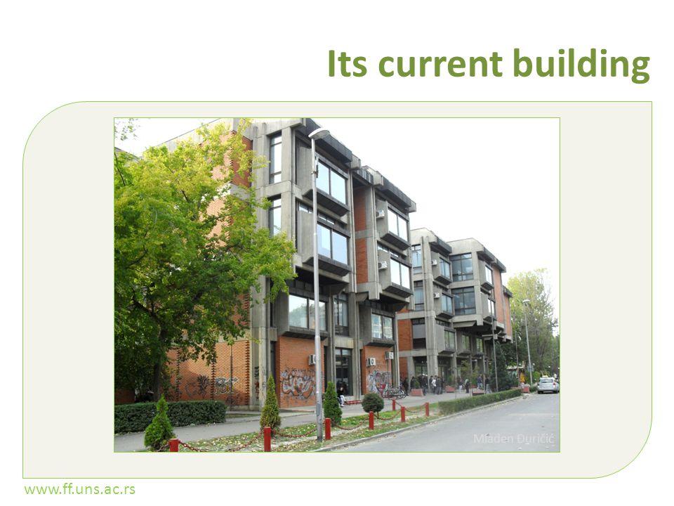 www.ff.uns.ac.rs Its current building Mladen Đuričić
