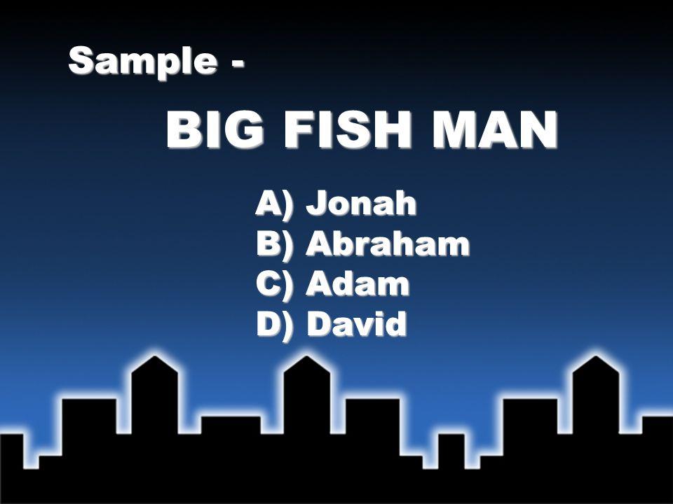 BIG FISH MAN Sample - Answer - A) Jonah