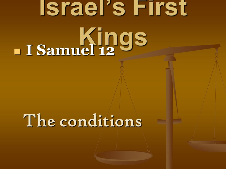 Israel's First Kings I Samuel 26 I Samuel 26 A second chance