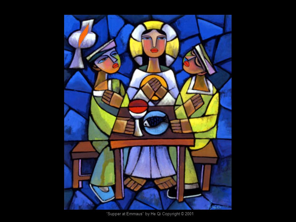 Supper at Emmaus by He Qi Copyright © 2001