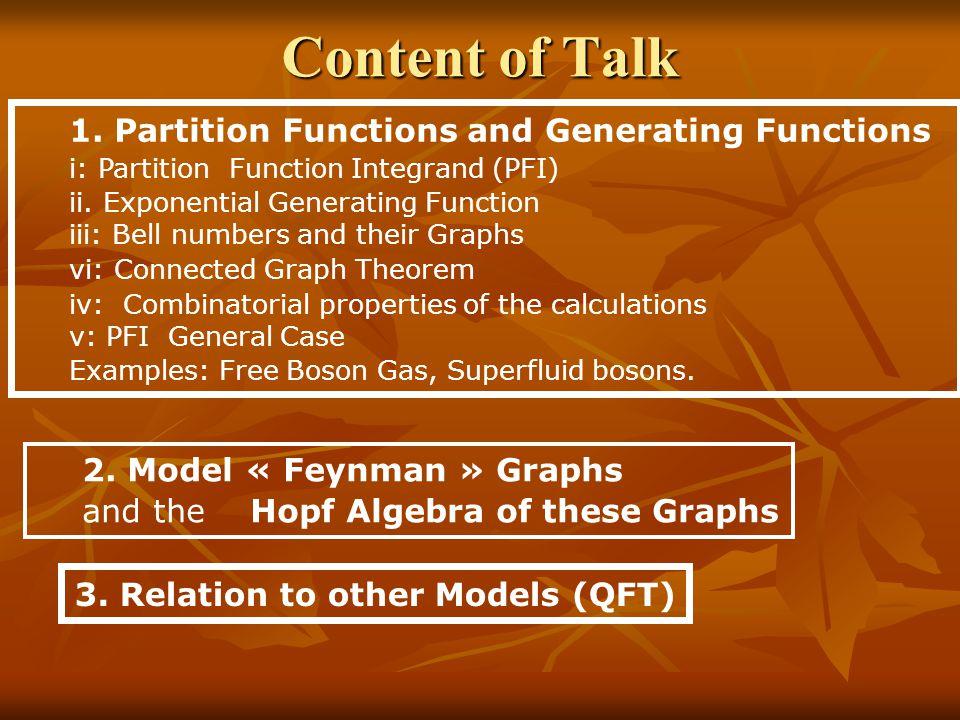 Content of Talk 1.