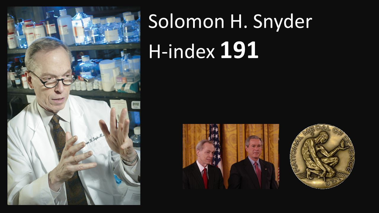 Solomon H. Snyder H-index 191