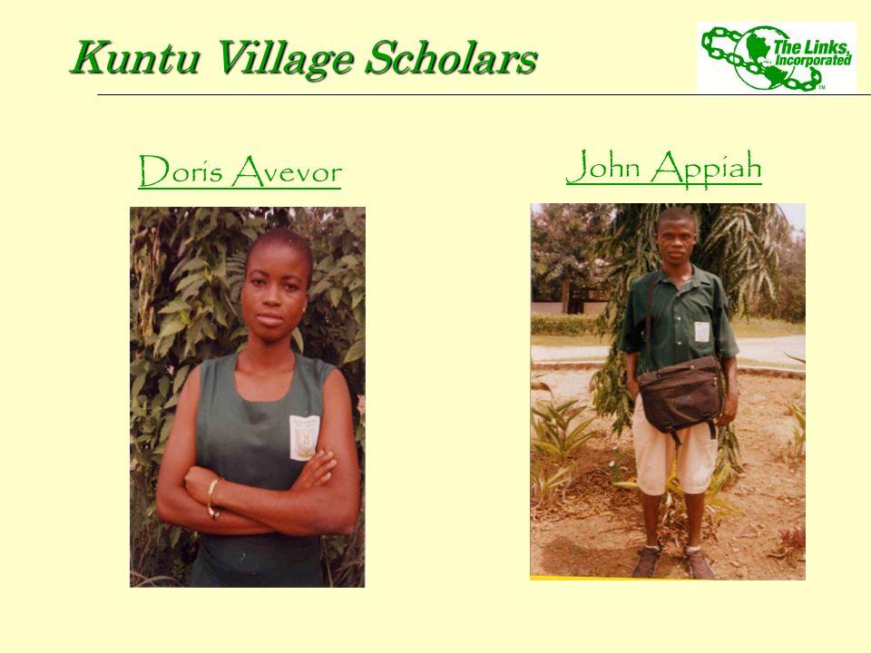 Doris Avevor Kuntu Village Scholars John Appiah