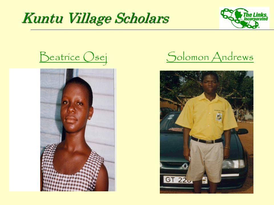 Solomon Andrews Kuntu Village Scholars Beatrice Osej