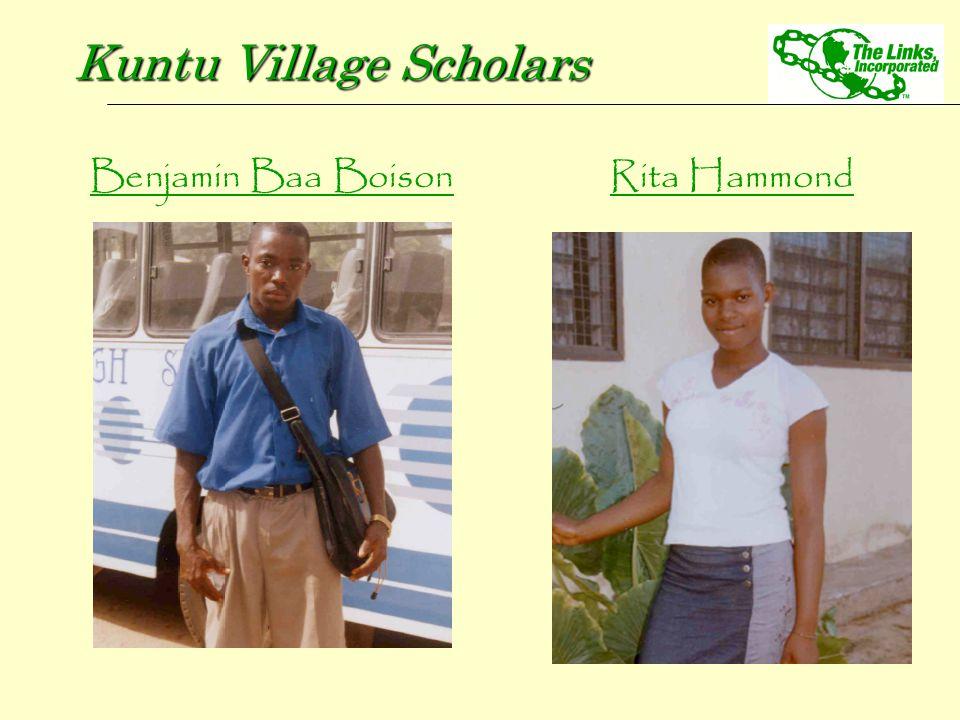 Benjamin Baa Boison Kuntu Village Scholars Rita Hammond