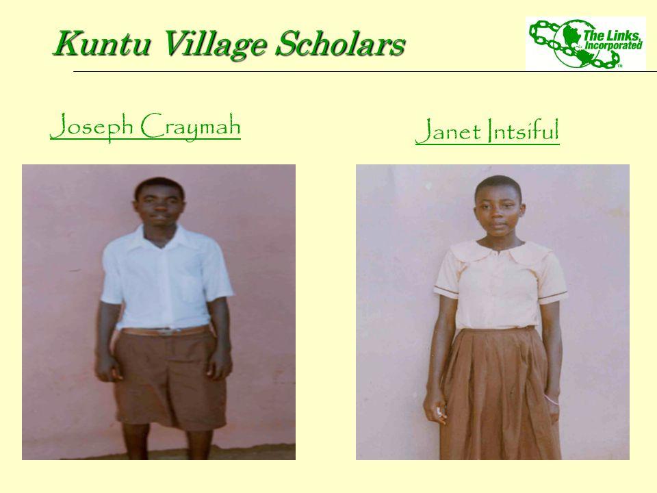 Joseph Craymah Kuntu Village Scholars Janet Intsiful