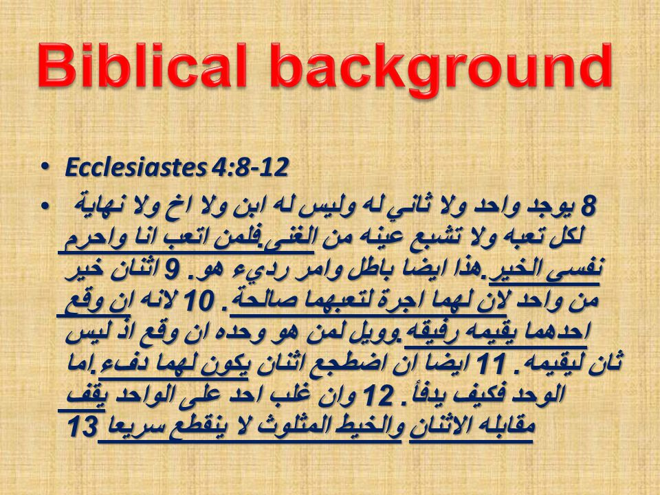 The bible description of a friend The bible description of a friend V8 A companion V8 A companion V9 Increases one's productivity V9 Increases one's productivity V10 Supports me when I am in need V10 Supports me when I am in need V11 Warms my life V11 Warms my life V12 Provides protection V12 Provides protection V12 Friendship invites God to the relationship V12 Friendship invites God to the relationship