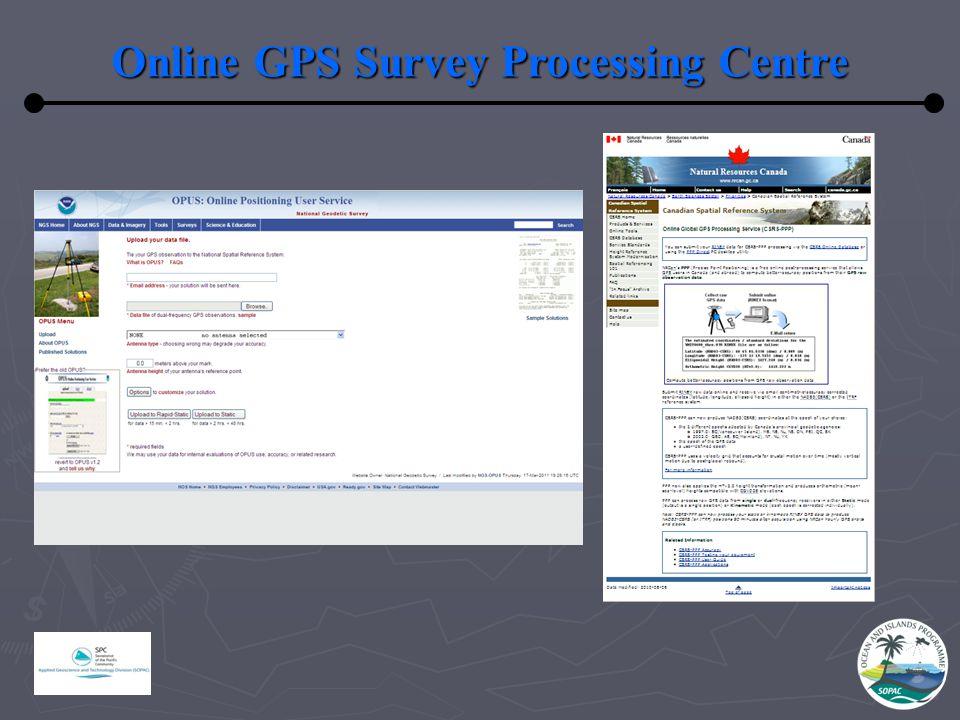Online GPS Survey Processing Centre
