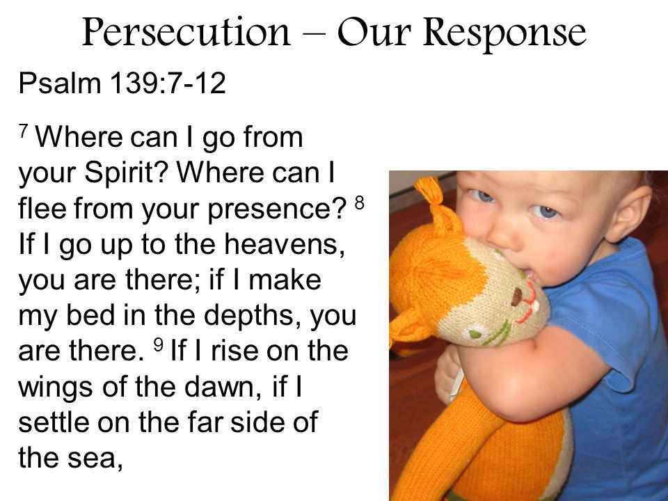 15.What are two God pleasing responses to persecution.