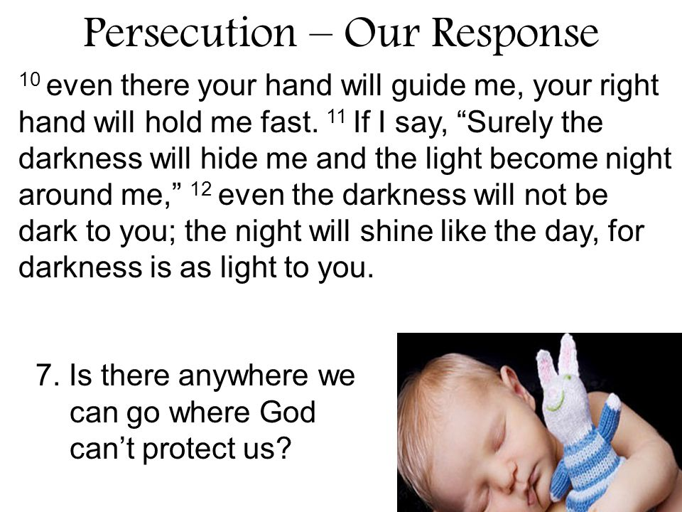 Persecution – Our Response 8.How did God use persecution for Patrick's good.