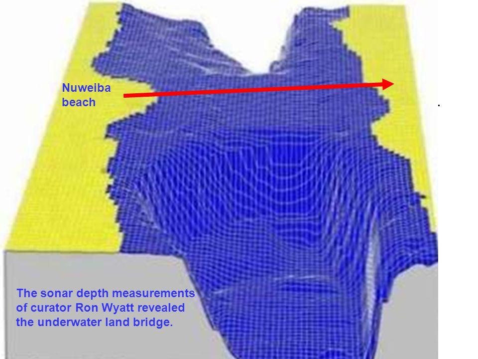 Sonar depth analysis by Ron Wyatt revealed an underwater land bridge.