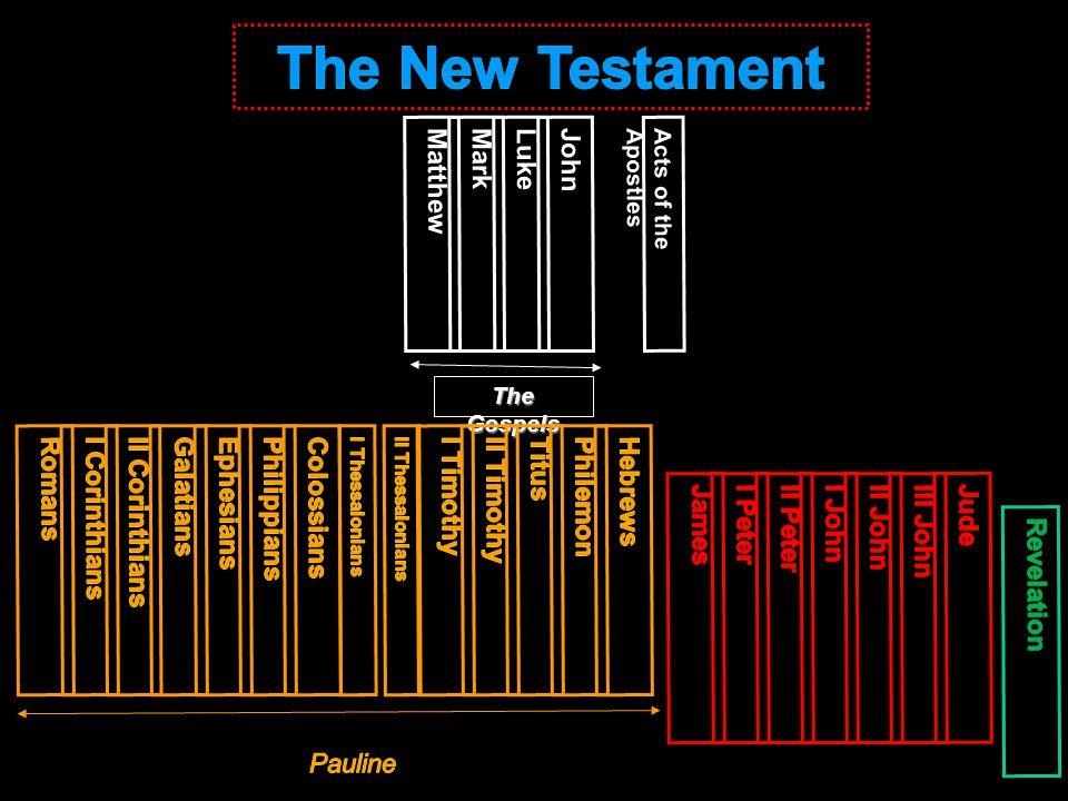 MatthewMarkLukeJohn Acts of the Apostles The Gospels