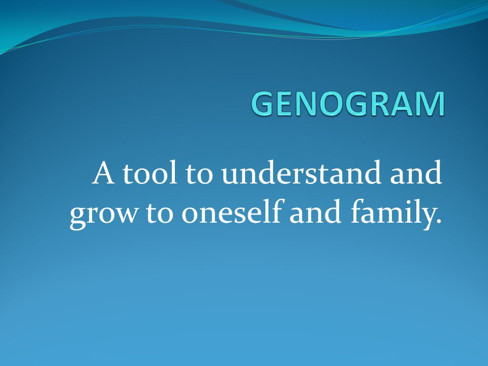 A tool to understand and grow to oneself and family.