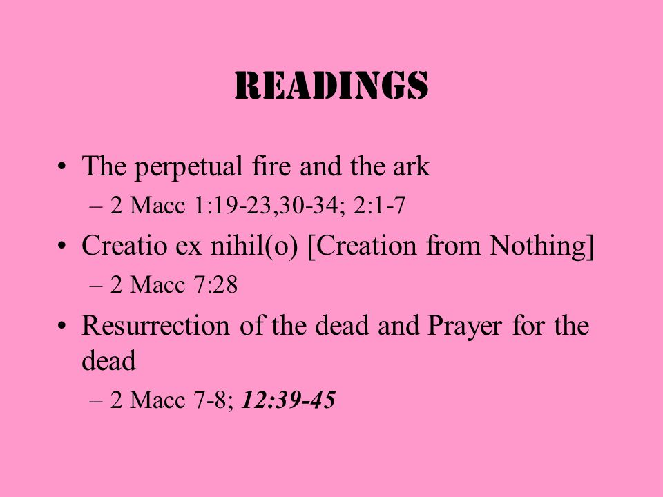 Brief Outline: 2 Maccabees Letters to Egyptian Jews [1:1-2:18] Preface [2:19-32] Protection of temple [chapter 3] Punishment of Jerusalem [4-7] Delive